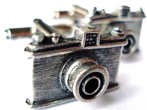 Camera Cufflinks - Gifts for Men - Anniversary Gift - Handmade - Gift Box Included on Etsy, $36.50