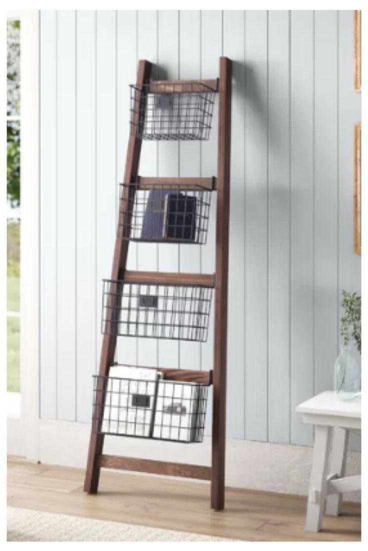 Rustic Blanket Ladder Perfect Bedroom Or Bathroom Storage Idea Affiliate Rusticfarmhou Farmhouse Decor Living Room Rustic Room Decor