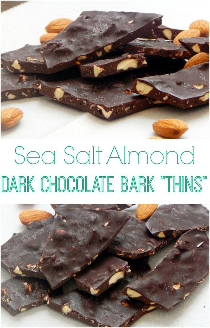 Sea Salt Almond Dark Chocolate Bark Thins
