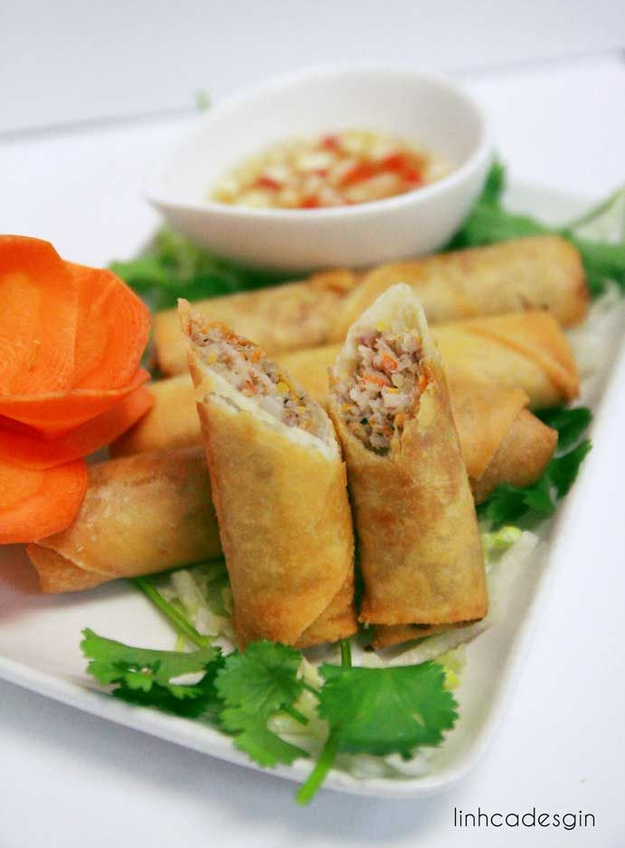 This is my project at college; the topic is about Vietnamese spring rolls. You can find the recipes there. Vietnamese fried spring roll is tasty and easy to make!