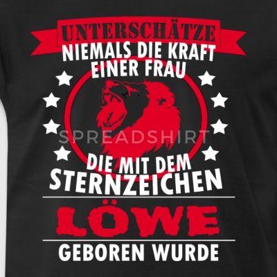 Sternzeichen LÖWE T Shirt - Geschenk - Männer Premium T-Shirt