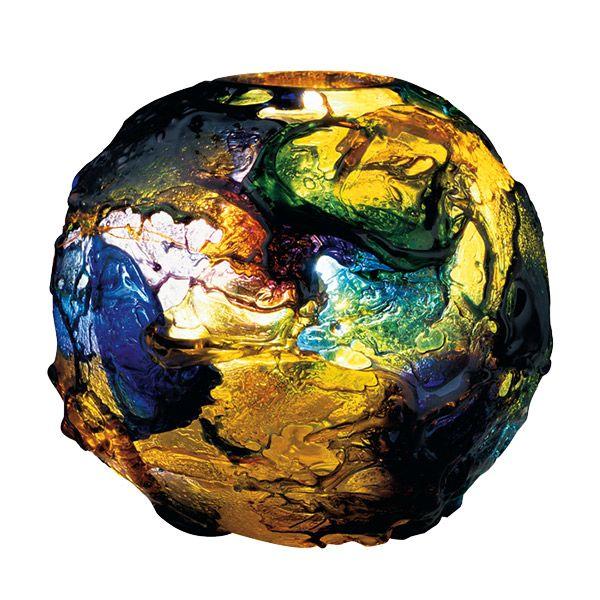 Vaso #Venini, Gae Aulenti 1995, Classici d'autore, collezione #Geacolor, vetro soffiato e lavorato a mano multicolore