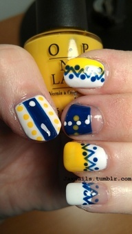 Painted nails. They would be perfect to wear to school for school colors!!!
