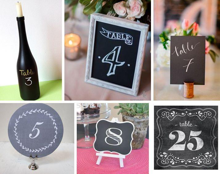 Numeracja stołów inspirowana czarną tablicą kredową
