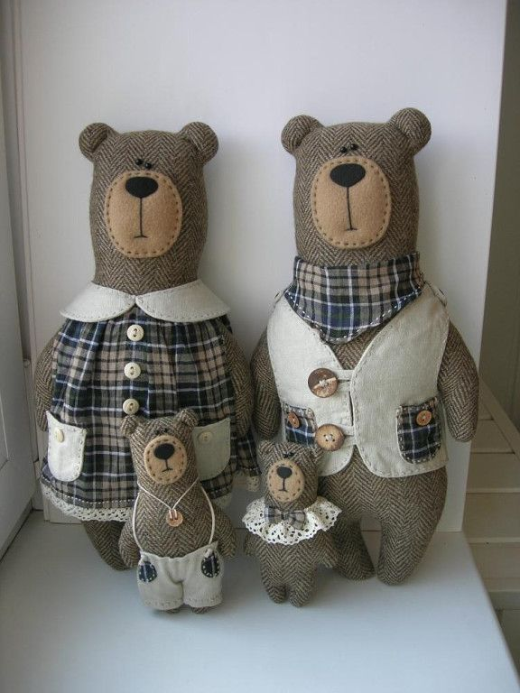 Fabric Bear Family