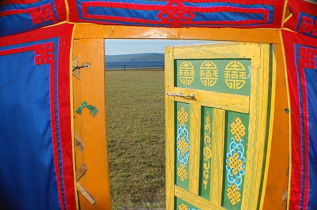 View from a Mongolian ger, via Flickr.
