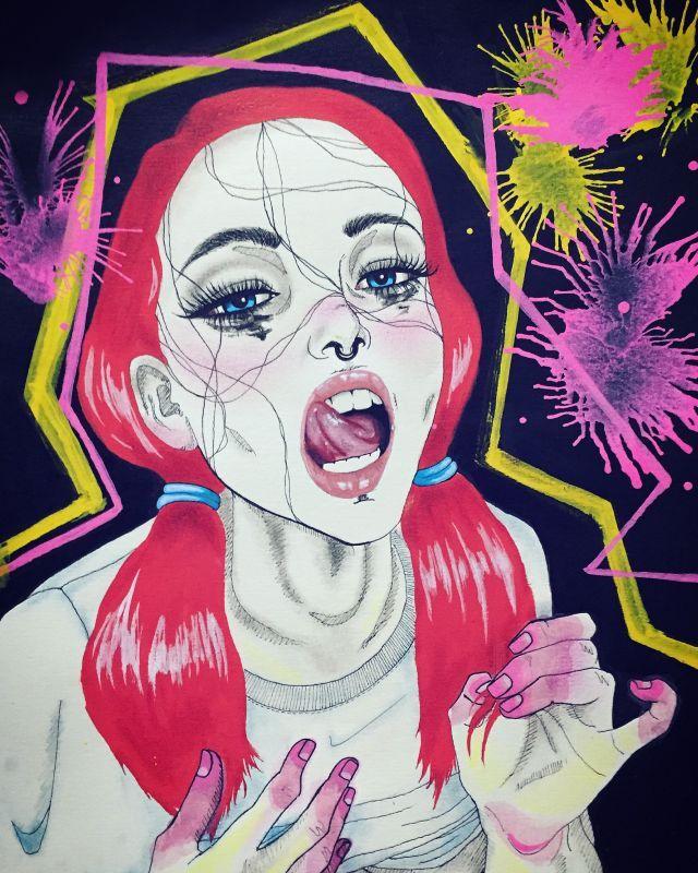 Minhas ilustrações de garotas com transtorno de personalidade