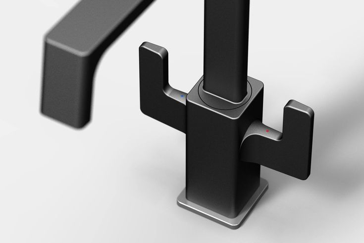 Dual lever kitchen faucet designed for Carysil by Lehel Juhos, Juhos Design Studio in 2016