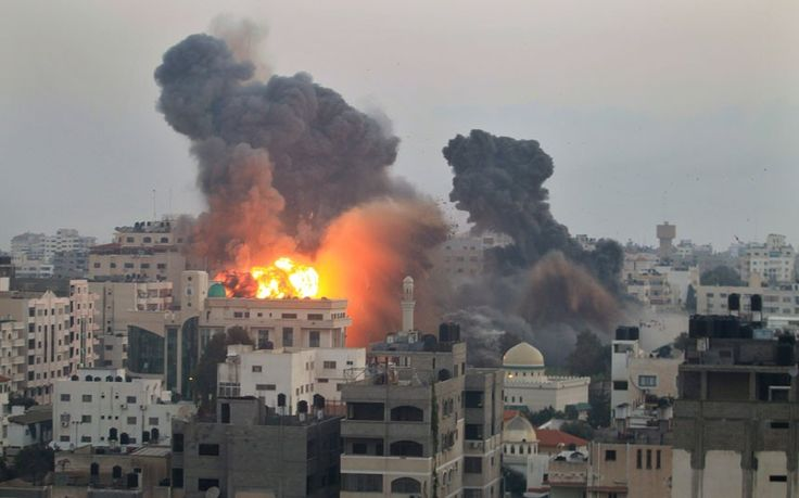 Isreal bombing Gaza 2014 still photos   ... after Israeli air strikes in Gaza City Picture: REUTERS/Mohammed Salem