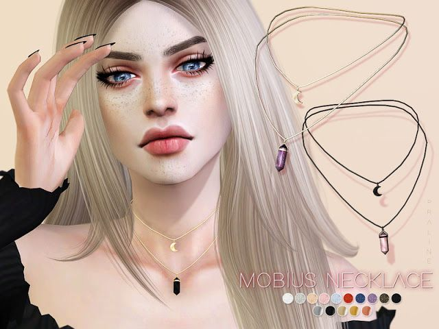 Sims 4 CC's – The Best: Mobius Necklace by Pralinesims
