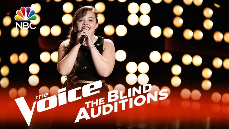 """The Voice 2015 Blind Audition - Treeva Gibson: """"Young and Beautiful"""" She is hard of hearing hearing herself and both of her parents are deaf. I really hope that she does a sign song on the show. She rocks. :)"""