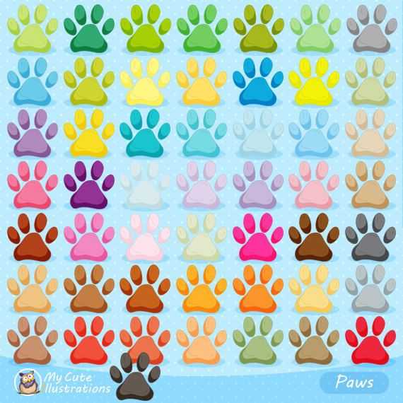 Paws clipart, Dog, Cat Paws, Pet Clip Arts, Animal Paws, Paw Patrol clipart, puppy paws, Commercial use