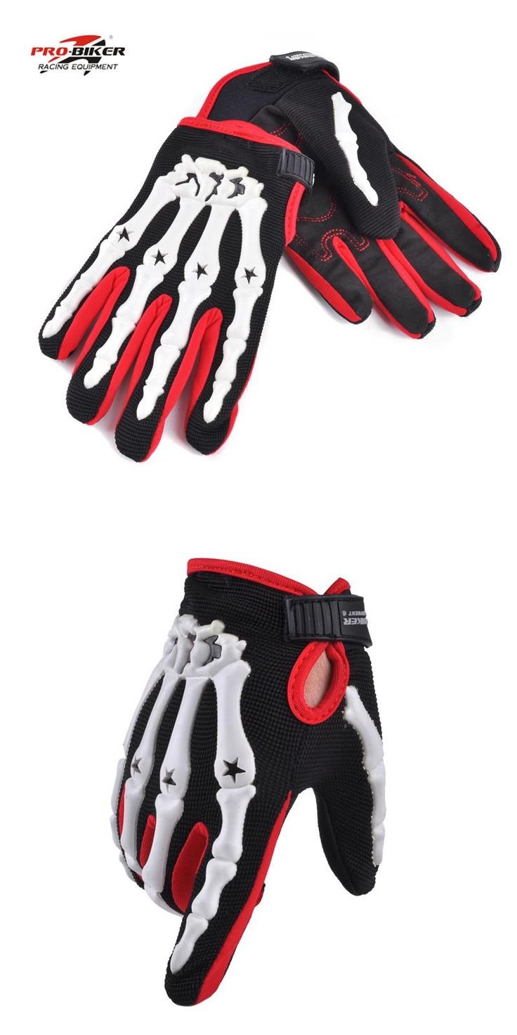 [Visit to Buy] Pro-biker skeleton gloves motocross men motorcycle racing gloves guantes luvas de motociclista gants moto cycling downhill glove #Advertisement