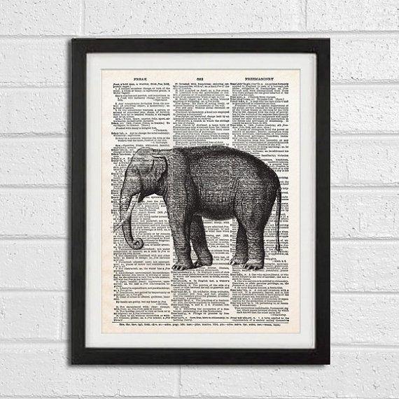 Safari Nursery Wall Art Print on Dictionary Page by ModernArtDeco, $12.00