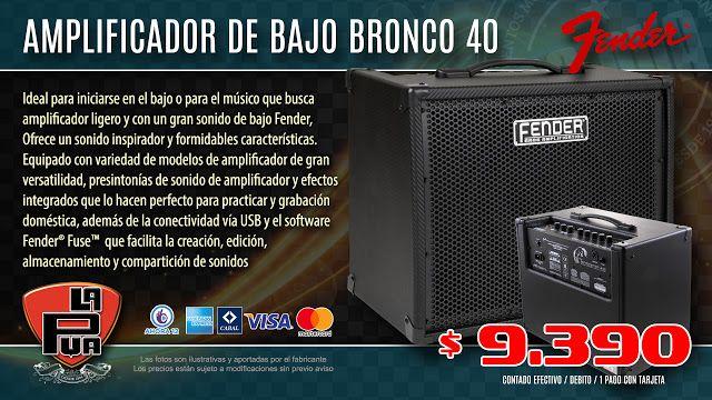 La Púa San Miguel: Amplificador de Bajo FENDER BRONCO de 40W