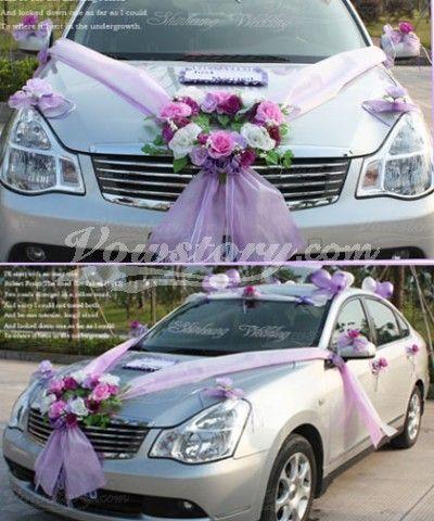 Groupe de décorations de voiture de mariage (PZS042)