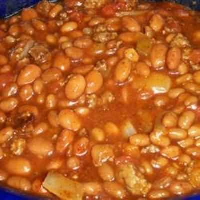 Texas-Style Baked Beans: Side Dishes, Texas Style, Beans Recipe, Texasstyl Baking, Baking Beans, Texas Styl Baking, Baked Beans, Hot Peppers Sauces, Mr. Beans