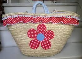 Resultado de imagen de cestas de mimbre decoradas