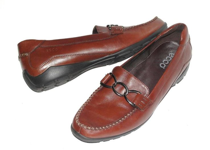 ECCO~WOMEN'S~LEATHER~COMFORT~DRIVING LOAFER MOCCASIN SLIP-ON SHOES~41 (10-10.5) #ECCO #LoafersMoccasinsComfortDrivingLoaferFlats
