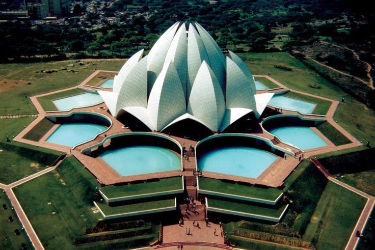 Templo del loto india grandes estructuras for Estructuras arquitectonicas