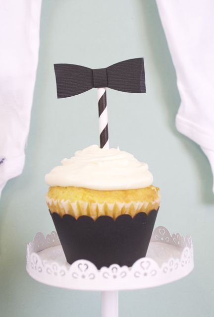 Bow Tie Baby Shower | BOY Baby Shower from @silhouettepins