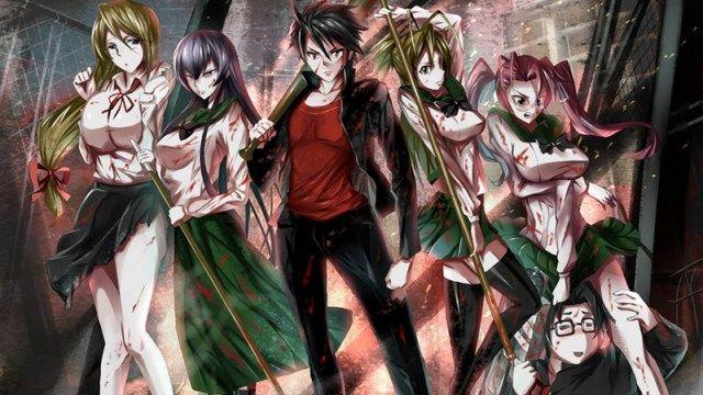 melhores animes da netflix highschool of the dead