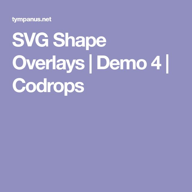 SVG Shape Overlays | Demo 4 | Codrops