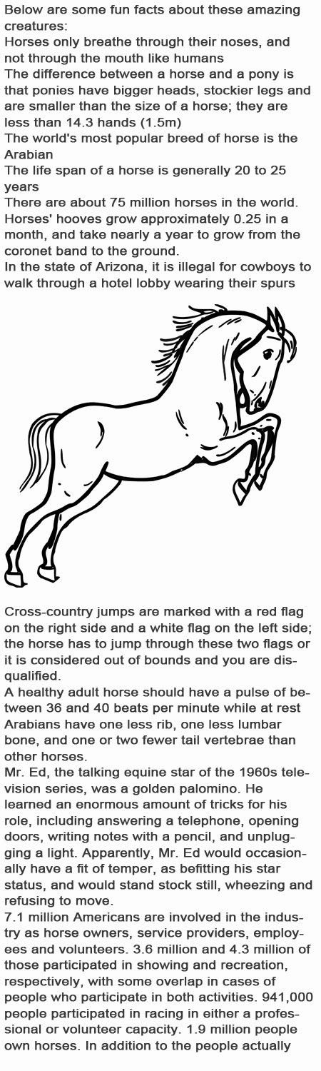 Horses facts for kids http://firstchildhoodeducation.blogspot.com/2013/10/horses-facts-for-kids.html