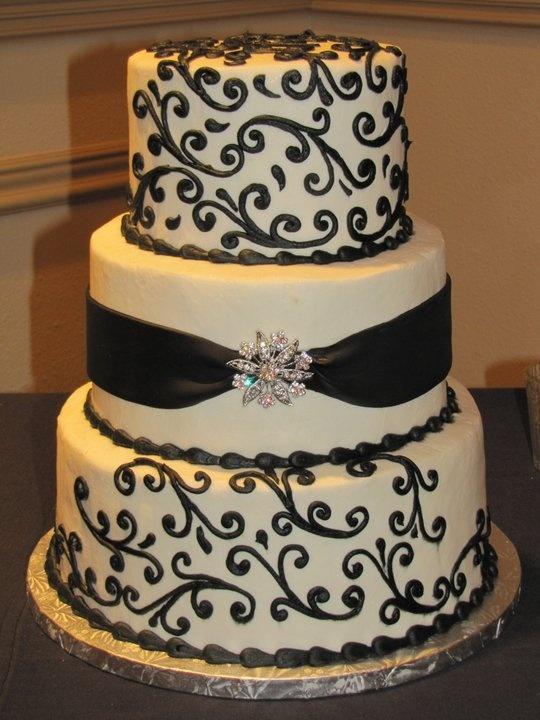 Black And White Wedding Theme Cake Cupcake Decoration Ideas
