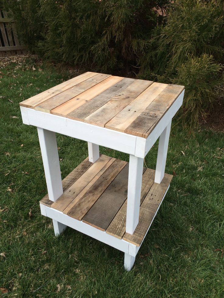 "A simple 2x4"" frame with pallets covering the tops."