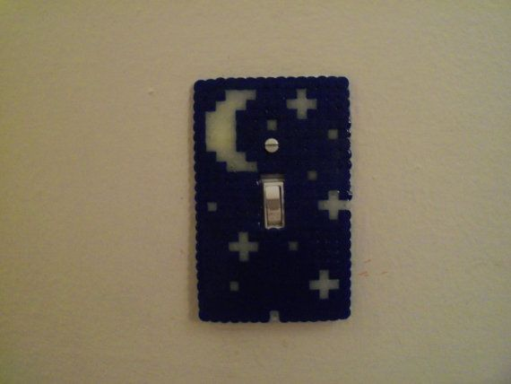Perler Bead light switch cover
