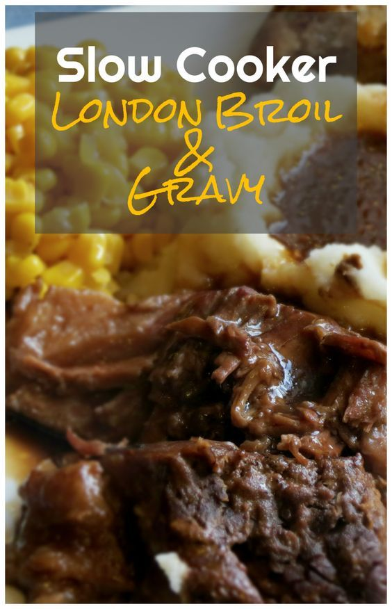 Slow Cooker London Broil & Gravy | I don't think I'll ever have it any other way after this. It makes incredible hot beef sandwiches as leftovers too.
