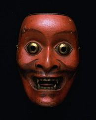 Noh mask, Sarutobide (a sprite with a monkey-like face), one of 47 Noh masks formerly owned by Konparu Sōke (the leading family of the Konparu school), Wood, colored Muromachi-Meiji period/15-19th century Originally owned by Konparu-za. Tokyo National Museum.