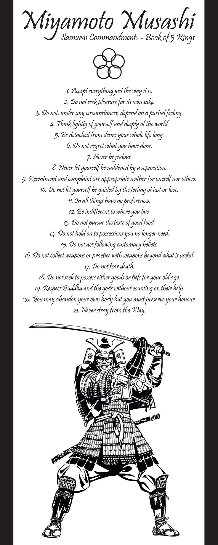 Samurai Commandments - Book of 5 Rings