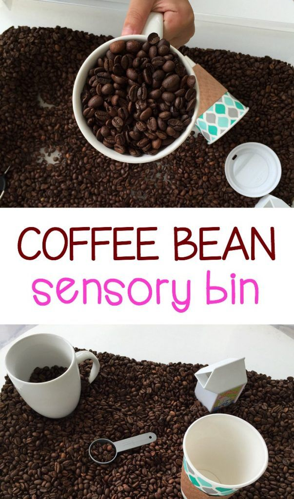 Preschoolers and toddlers will love the smell of the coffee beans during pretend…