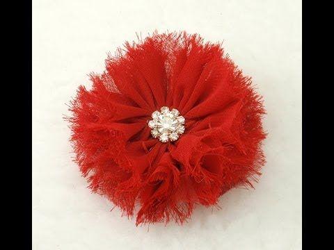 Shabby Chic Fabric Flower, Tutorial, DIY, How to do Hair Clip