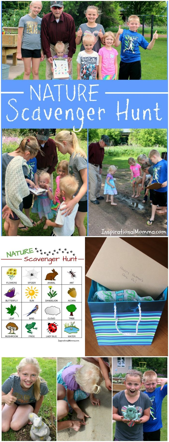 Its time for a Nature Scavenger Hunt. While searching for objects and critters, you will smile, giggle, and make many memories! Check out the free printable! #CelebrateAmazingDads # CollectiveBias #Ad #AmGreetings