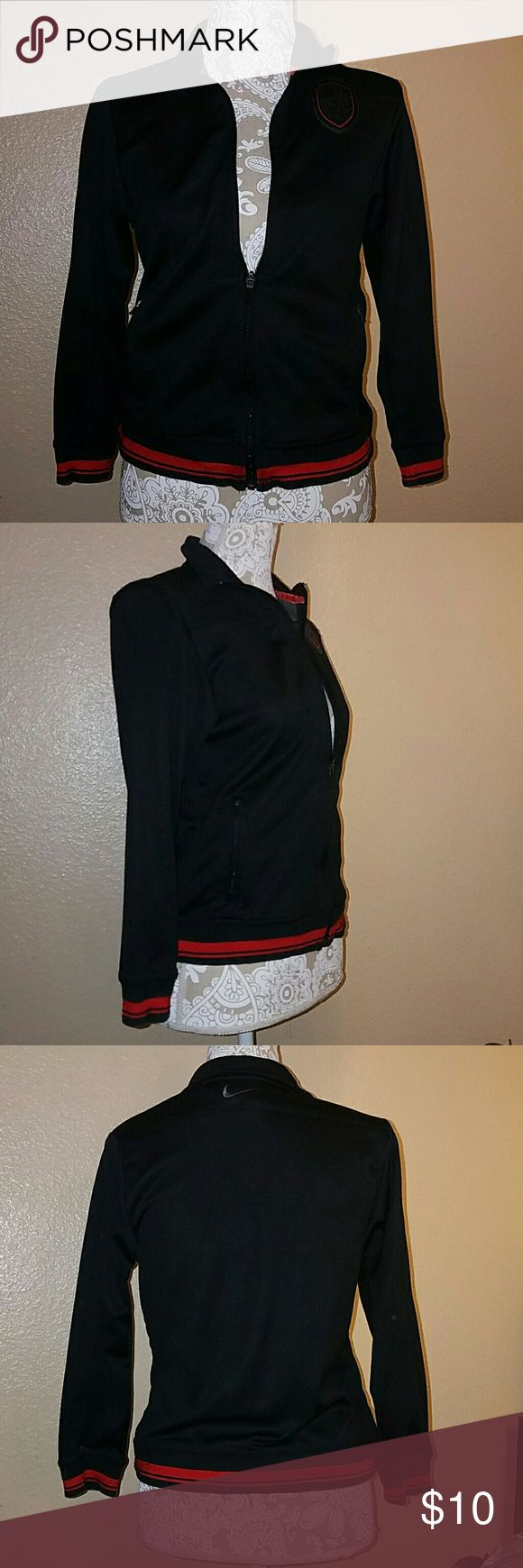 Nike Track Jacket This is a used Nike track jacket in medium size :) Great for women who spend a lot of time in the gym! Nike Jackets & Coats