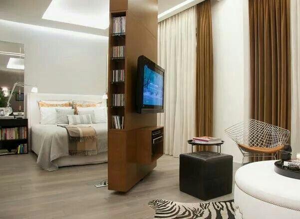 Bedroom rotating tv panel