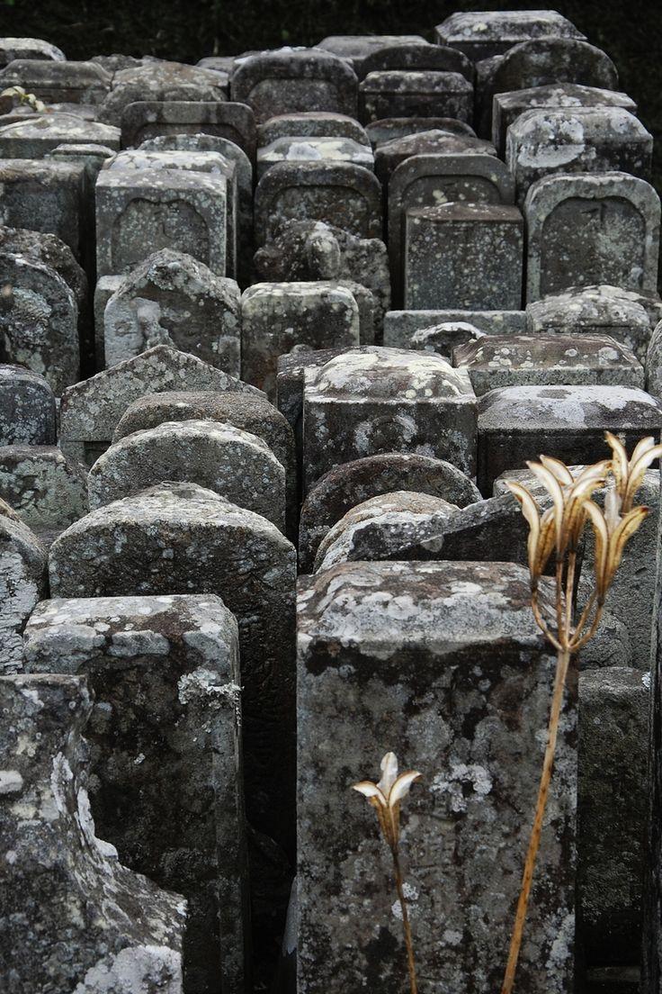 Tombstones in Japan