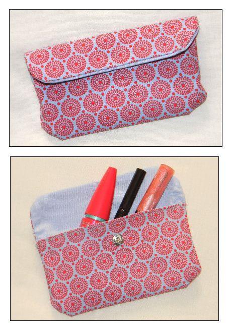 Tuto couture : http://crealoutre-deco.over-blog.fr/article-pochette-doublee-a-rabat-pressionne-tuto-115466747.html