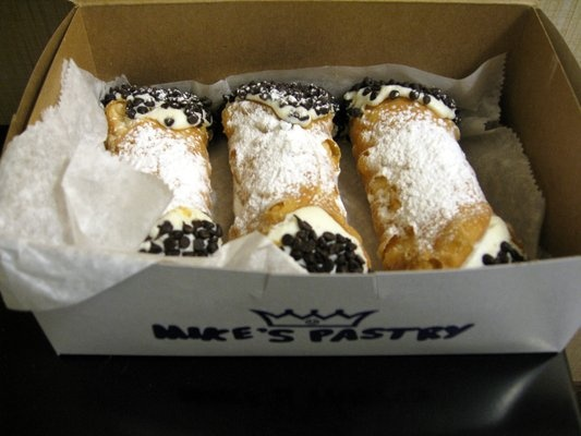 Nothing beats a cannoli from Mike's. YUM.