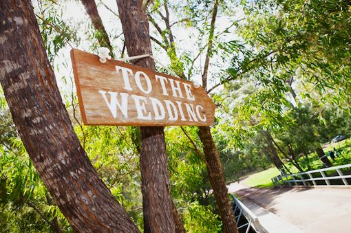 To The Wedding Rustic Sign www.capeoflove.com