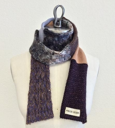 Neutral  Wool Blend Scarf  by Piece x Piece on Scoutmob Shoppe
