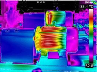 Thermal image of Motor - Taken with FLIR T640bx
