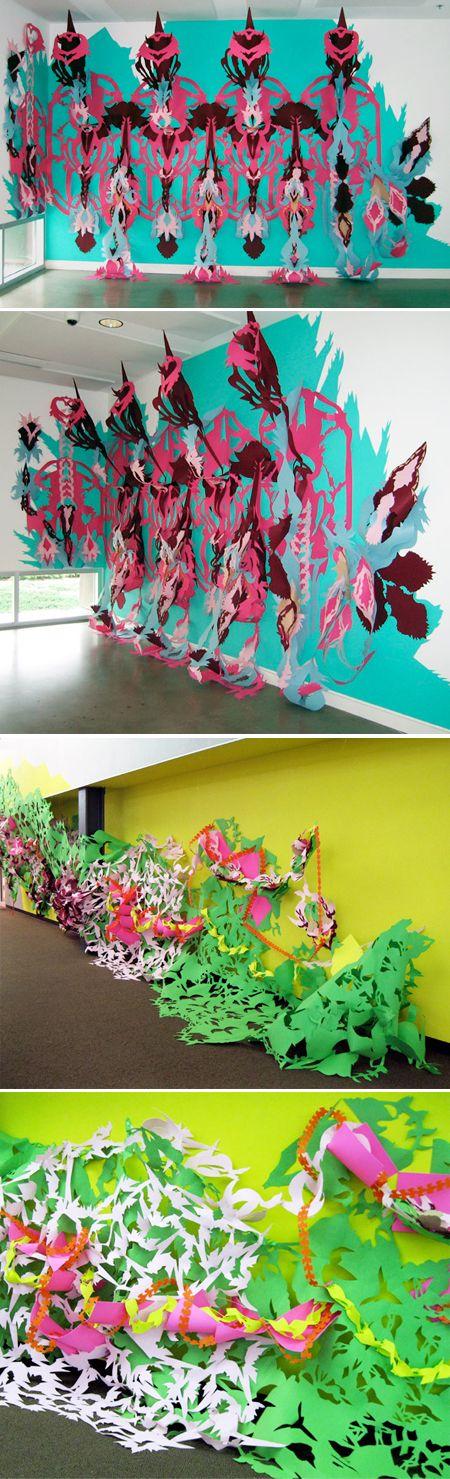 Paper installation - Liz Miller