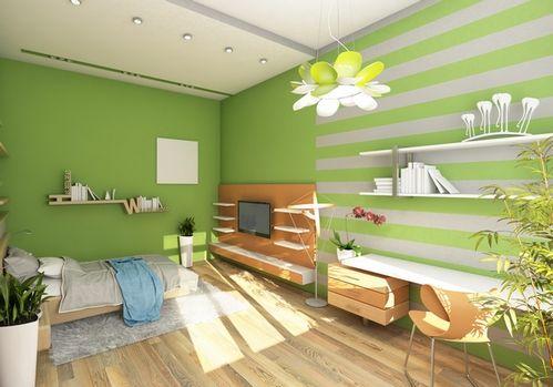 комбинированная покраска стен гостиная переход