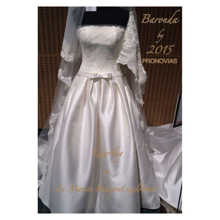 Baronda esküvői ruha by 2015 PRONOVIAS Exclusively at La Mariée Budapest bridal #wedding #bridal #bridaldress #weddingdress #bridalgown #weddinggown #pronovias http://lamariee.hu/eskuvoi-ruha/pronovias-2015/baronda