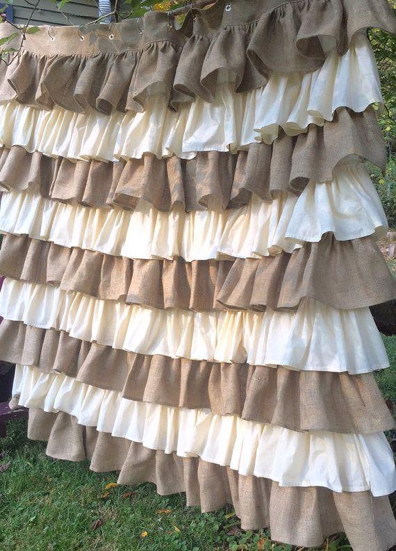 1000+ ideas about Burlap Shower Curtains on Pinterest | Burlap ...
