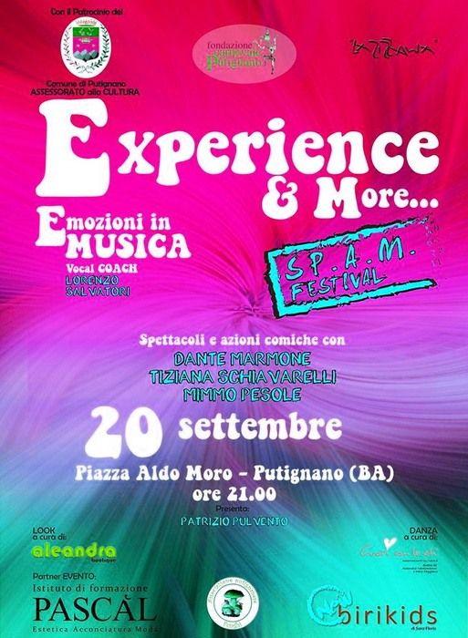 Aspettando lo SP.A.M. festival 2016 (talent di voci nuove), spettacolo musicale. Domenica 20 settembre 2015, ore 20,30 Piazza A. Moro a Putignano